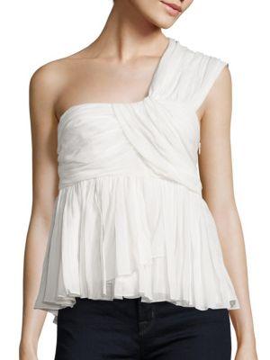 Draven One-Shoulder Cotton Gauze Top by