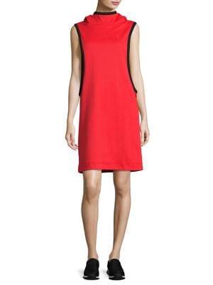 Colorblock Sleeveless Track Dress