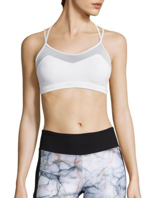 Breaker Mesh-Inset Sports Bra by KORAL