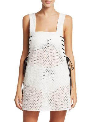 Marysia Waikiki Lace-Up Dress