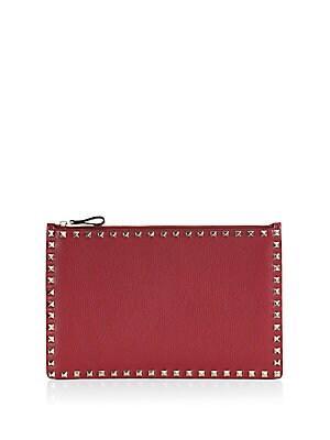 b515d6f510a69 Valentino Garavani - Rockstud Leather Pouch - saks.com