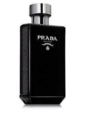 Image of L'Homme Prada Intense is a multi-layered Eau de Parfum. At the heart of the fragrance, Amber, Patchouli, Iris and Tonka Beans create combinations of notes that accentuate the endless facets of the Prada man. 1.7 oz. Imported. Fragrances - Puig. Prada. Siz
