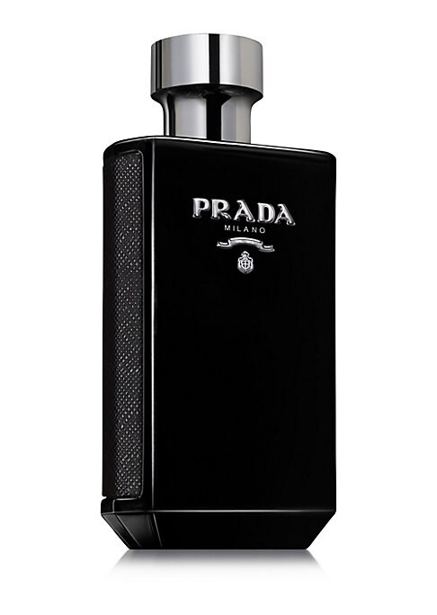 Image of L'Homme Prada Intense is a multi-layered Eau de Parfum. At the heart of the fragrance, Amber, Patchouli, Iris and Tonka Beans create combinations of notes that accentuate the endless facets of the Prada man. 1.7 oz. Imported.