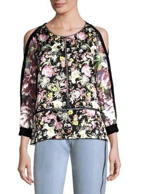 Meadow Floral Silk Cold-Shoulder Top by 3.1 Phillip Lim