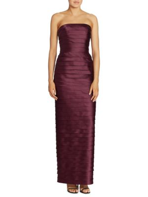 Image of Strapless Tiered Gown
