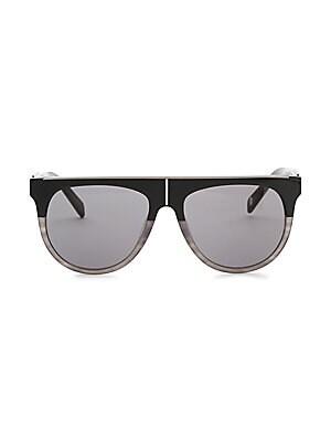 36568372d3f Balmain - Flat Top 55MM Aviator Sunglasses - saks.com