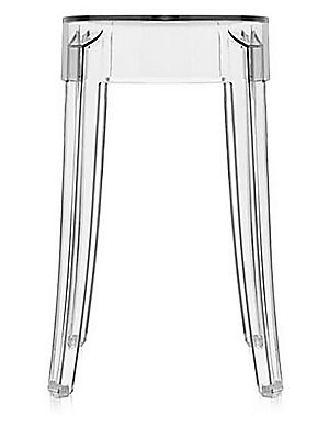 Kartell TwoPiece Charles Ghost Stool Set  Clear