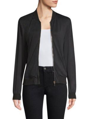 TART Hollice Zip-Up Bomber Jacket in Black
