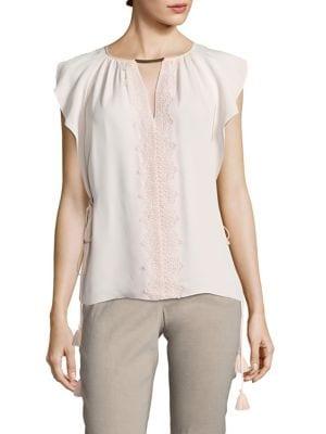 Coline Side-Tie Silk Blouse by Elie Tahari