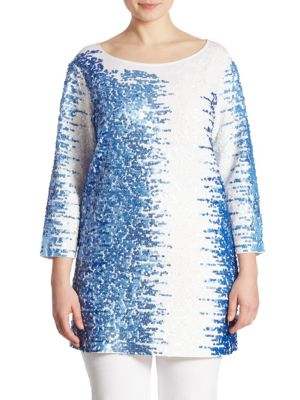 Sequined Pima Cotton Tunic by joan vass