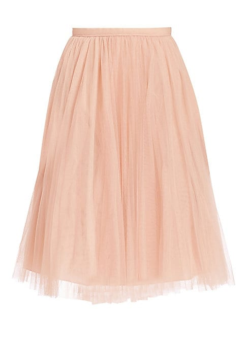 "Image of Whimsical tulle skirt in A-line silhouette. Banded waist. Concealed back zip. Lined. About 28"" long. Polyester. Dry clean. Imported. Model shown is 5'10"" (177cm) wearing US size 4."