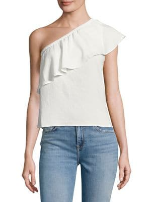 Ruffled One-Shoulder Top by 7 For All Mankind