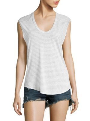 Valley Striped Relaxed Tank Top by rag & bone/JEAN