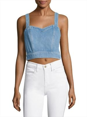 Denim Bustier by 7 For All Mankind