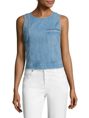 Denim Shell Top by 7 For All Mankind
