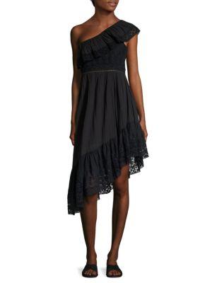 Pamela Ruffled One-Shoulder Dress