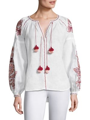 Embroidered Linen Blouse by 11-Mar