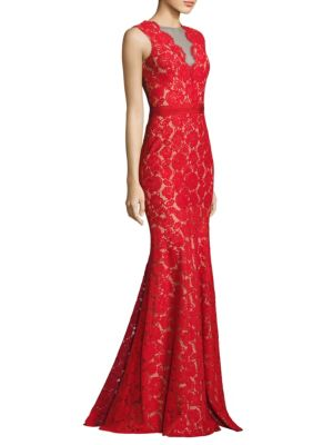 Buy Theia Floral Lace Mermaid Gown online with Australia wide shipping