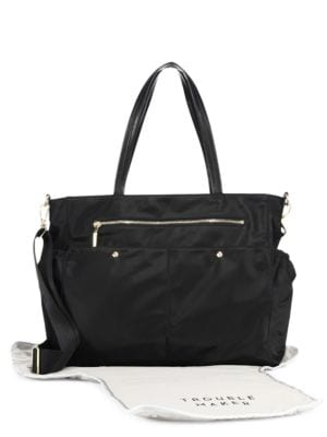 MILLY MINIS Solid Diaper Bag in Black