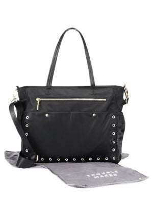 MILLY MINIS Grommet Diaper Bag in Black