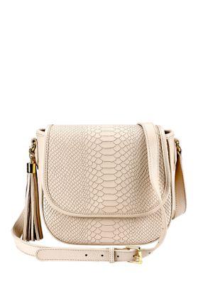 Gigi New York Kelly Leather Saddle Bag