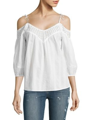 Polly Cold Shoulder Blouse by PAIGE