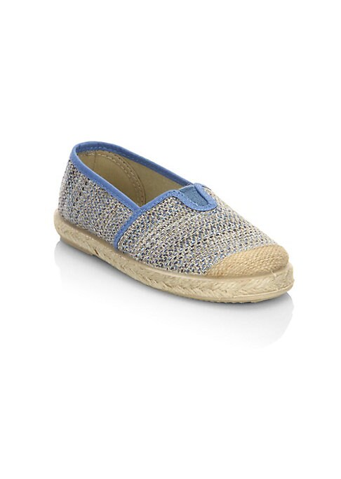 Image of Breathable crochet canvas sneakers with espadrille base. Canvas upper. Slip-on style. Rubber sole. Made in Spain.