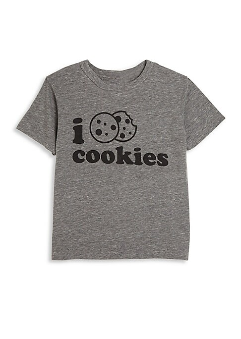 Image of Casual crewneck tee with whimsical cookie graphic. Crewneck. Short sleeves. Pullover style. Polyester/cotton/rayon. Machine wash. Imported.