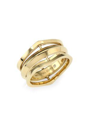 Triple Open Ring, Gold