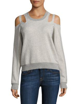 Minerva Cutout Cold Shoulder Sweatshirt by n:Philanthropy