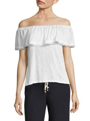 Off-the-Shoulder Ruffle Top by Splendid