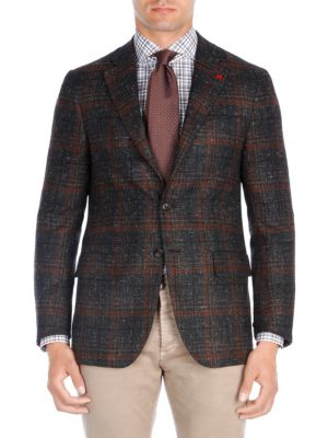 Plaid Wool Sportcoat by Isaia