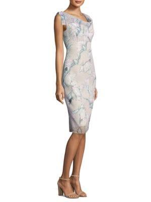 Jackie O Printed Dress by Black Halo