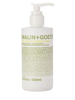 Malin + Goetz Rum Hand & Body Wash Pump/8.5 oz.