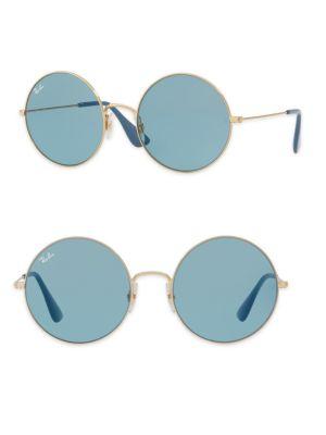 Ja-Jo Rb 3592 001/F7 Gold Round Sunglasses 55Mm