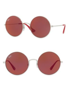 Ray-Ban Jajo Sunglasses, Rb3592 55 in Silver/Red Mirror
