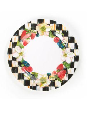 Berries  Blossoms Dinner PlatesSet of 4