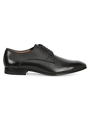 Image of Classic calf leather oxfords in burnished finish Calf leather upper Lace-up style Leather lining and sole Made in Italy. Men's Shoes - Mens Classic Footwear > Saks Fifth Avenue. Bruno Magli. Color: Black. Size: 10.5 M.