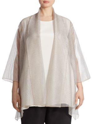 Sheer Mesh Cardigan by Caroline Rose