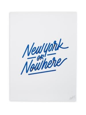 It's A Living New York or Nowhere Print by Knowlita
