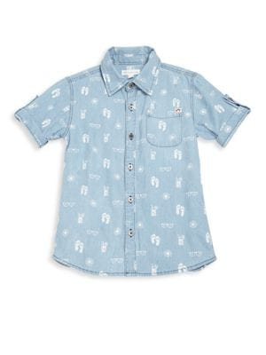 Toddlers Little Boys  Boys Patterned Shirt