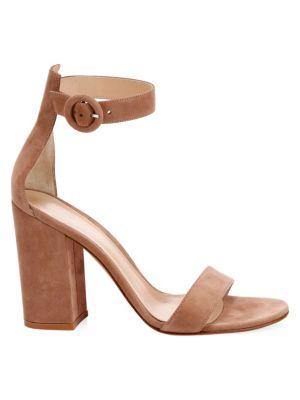 d931dc6c7b Gianvito Rossi Block Heel Portofino Sandals In Praline | ModeSens