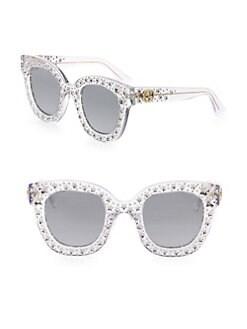 f655a569cc Gucci. Oversize Crystal Star Mirrored Square Sunglasses