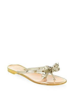 Valentino Garavani. Rockstud Jelly Thong Sandals