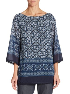 Jaipur Printed Top by St. John