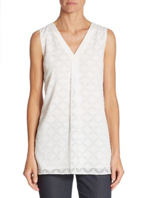 Sleeveless V-Neck Top by St. John