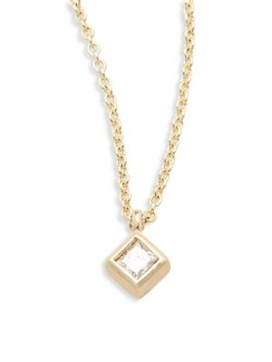 Zoe Chicco Diamond 14k Yellow Gold Pendant Necklace