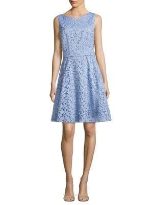 Dyferana A-Line Lace Dress by BOSS