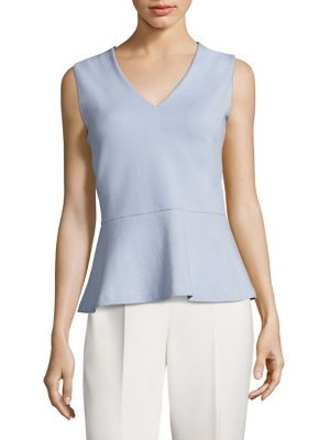 Erane Textured Peplum Top by BOSS
