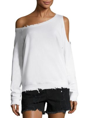 Willow One-Shoulder Cutout Sweatshirt by RtA